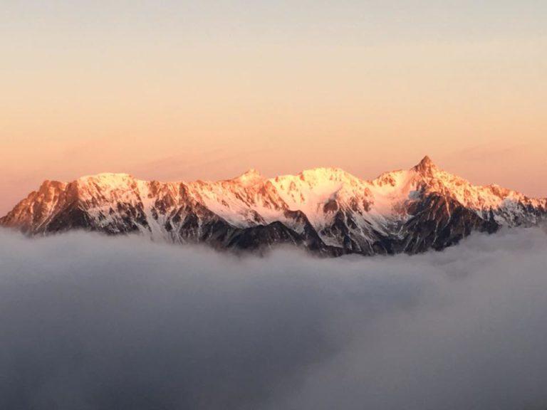 白銀の槍ヶ岳