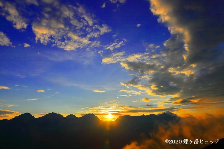 大キレットに沈む夕日