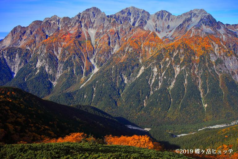 錦秋の穂高岳