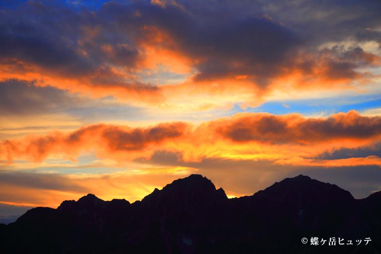 夕空に聳える穂高岳